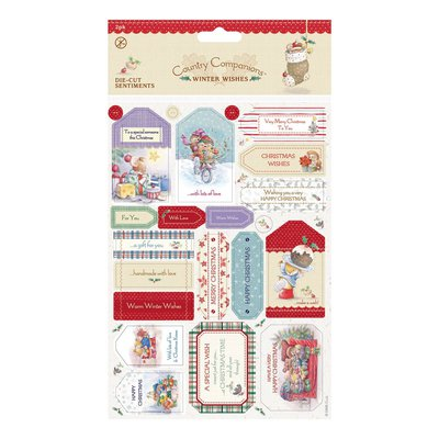 Die-cut Sentiments (2pk) - Winter Wishes
