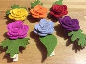 Mollette fiore feltro tipo 2