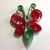 Decorazioni di Natale  farfalla rossa handmade