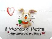 Magnete coniglietto e carotina handmade in Fimo