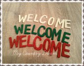 "Set lettere ""Welcome"""