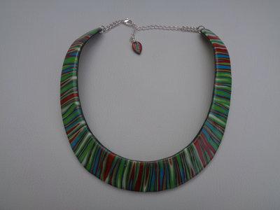Collana rigida in pasta polimerica multicolor