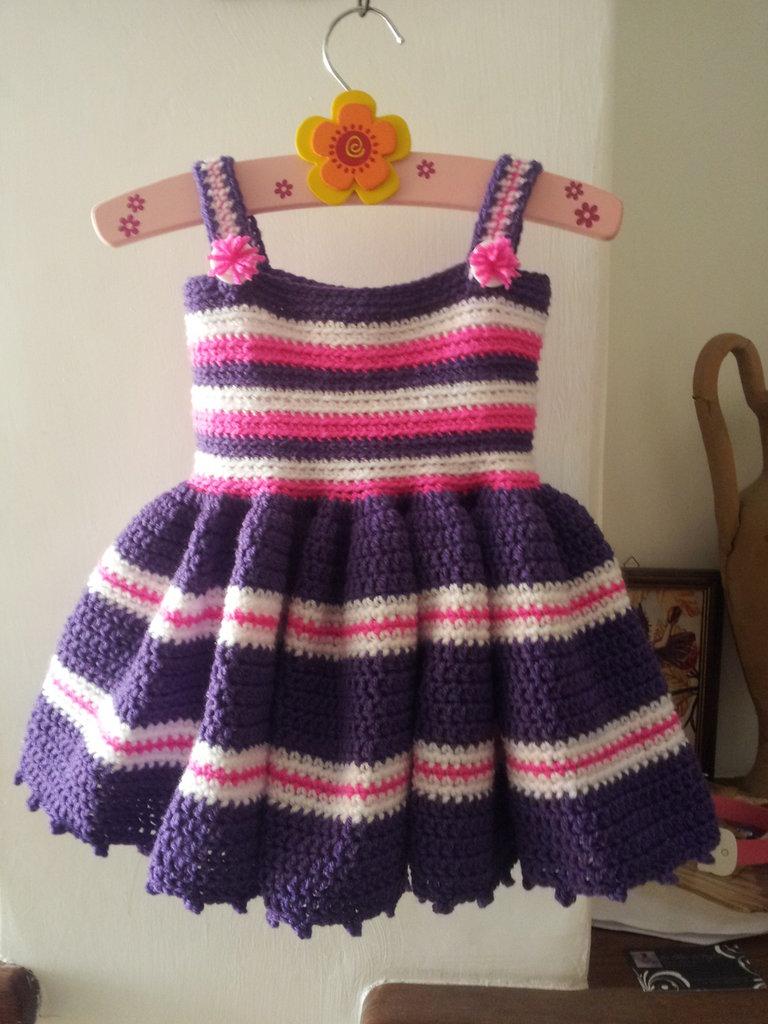 Vestito Bimba Uncinetto 1218 Mesi Bambini Abbigliamento Di L