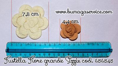 Fustellata fiore grande 3d