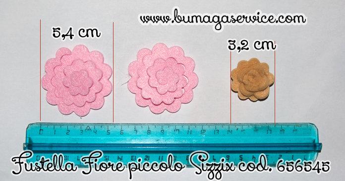 Fustellata fiore piccolo 3d