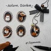 autumn collection -  volpe gufo scoiattolo cerbiatto riccio