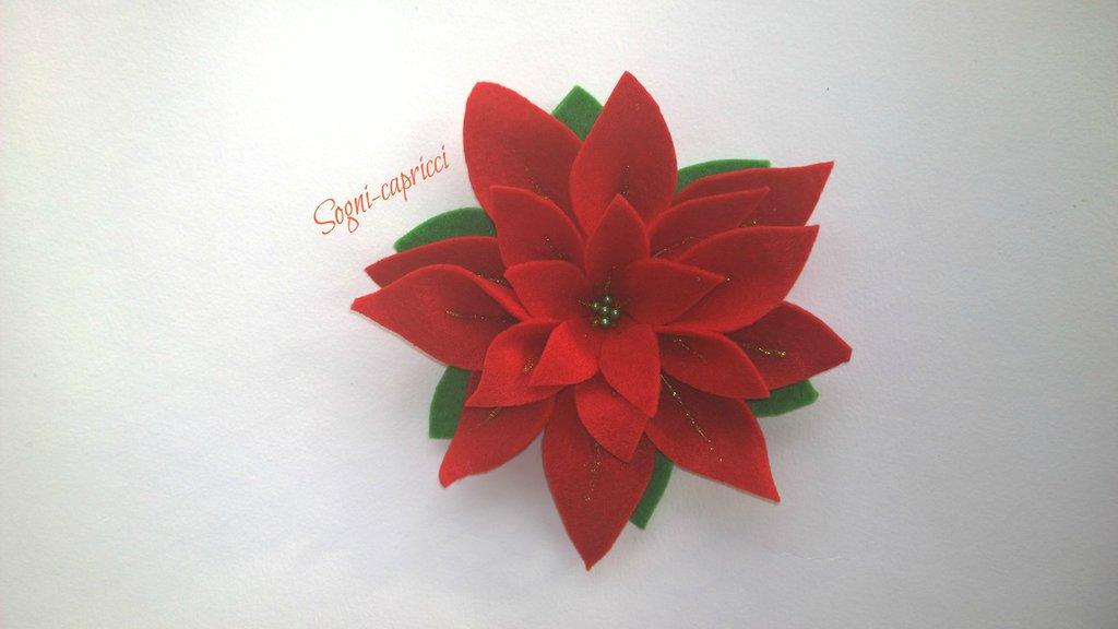 Addobbo natalizio stella di natale rossa