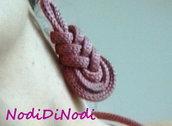 Orecchini Pipe Knot_tricot rosa