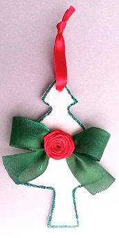 Addobbo natalizio fatto a mano albero di Natale