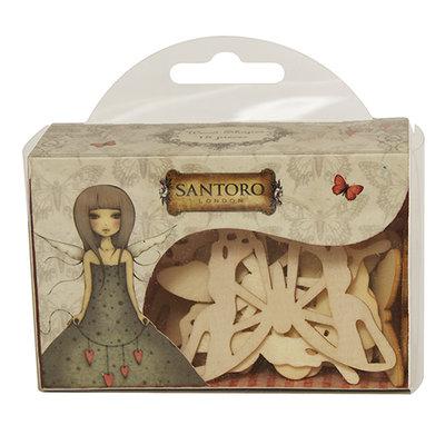 Mix 18 farfalle in legno - Mirabelle