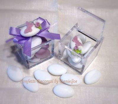 confetti decorati in scatola