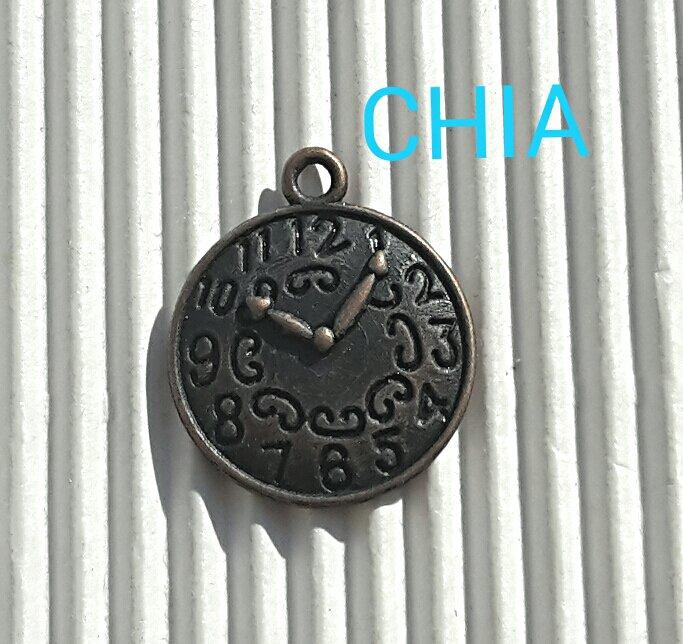 4 charms orologio bronzo