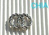 6 charms connettori cerchi intrecciati