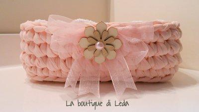 """Cestino porta lavette color """"rosa"""""""