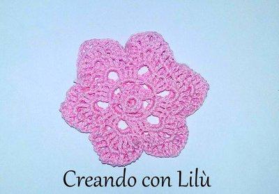 sacchettino porta confetti fiore uncinetto cm8
