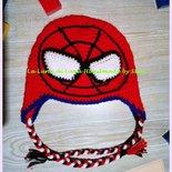 Cappello uncinetto Spiderman Uomo Ragno per  bambino