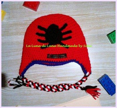 Cappello Uncinetto Spiderman Uomo Ragno Per Bambino Bambini Ab