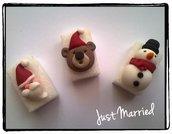 zollette di zucchero decorate, regalo natalizio, segnaposti