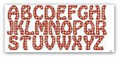 """File di ricamo a macchina a punto croce """"Alfabeto a quadretti"""""""
