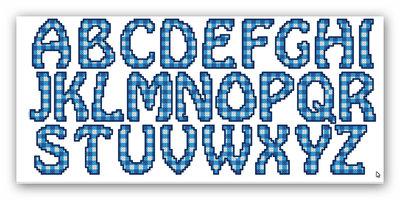 File di ricamo a macchina a punto croce alfabeto a for Ricamo punto croce alfabeto