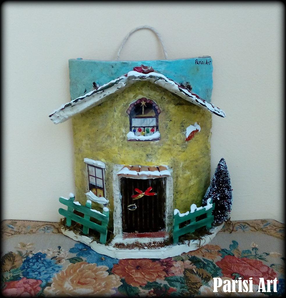 Tegola decorata natalizia