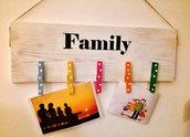 "Pannello portafoto ""family"""