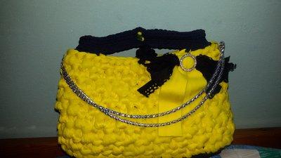 Pochette Mini jewel bags giallo-nero