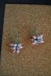 orecchini riccio perle di carta