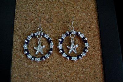 orecchini cialde viola
