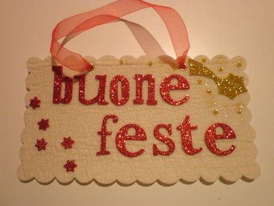 """TARGHETTA FUORIPORTA """"BUONE FESTE"""""""