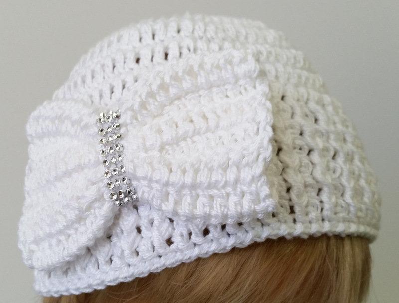 Elegante Cappellino Neonato Uncinetto Bambini Abbigliamento D