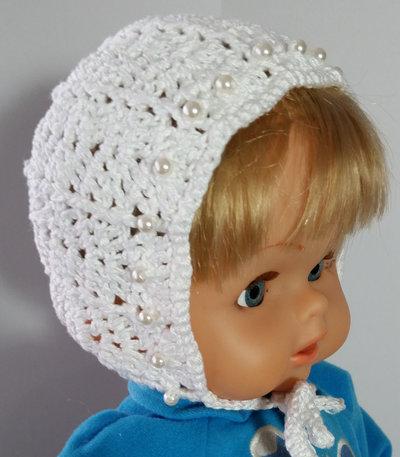 cappellino bonnet per neonata