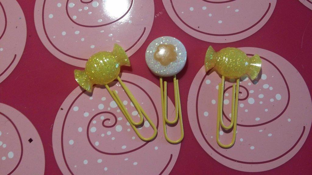 3 Paper pins in resina colorata
