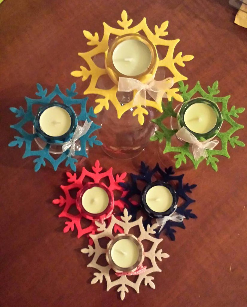 Porta tea light in feltro