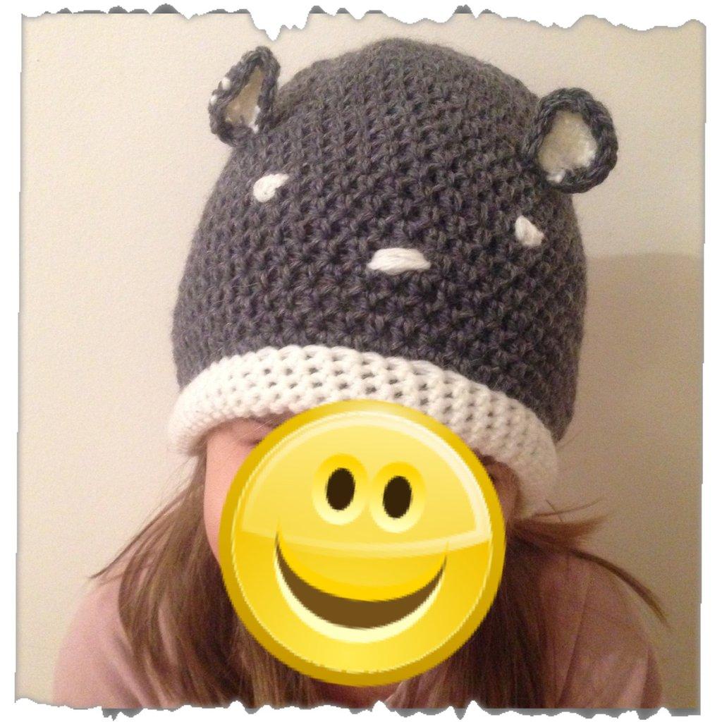 Cappello bambino bambina in lana uncinetto