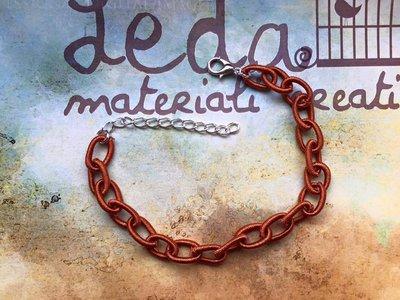 Base bracciale catena di seta cachi
