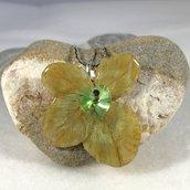 Vero quadrifoglio con cuore verde