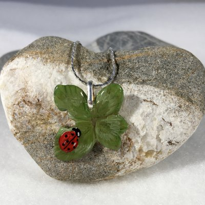 Amuleto quadrifoglio portafortuna