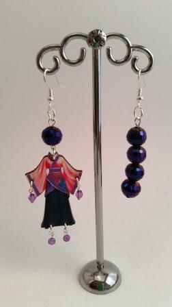 "Orecchini ""Sundry Molds"" - Japan blue - perle"