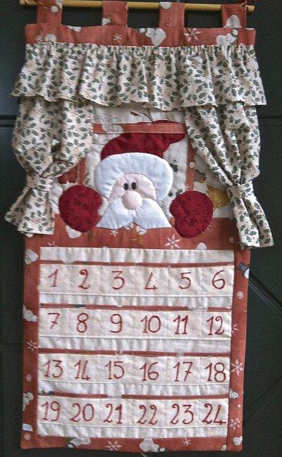 Natale - Calendario dell'avvento Babbo Natale alla finestra