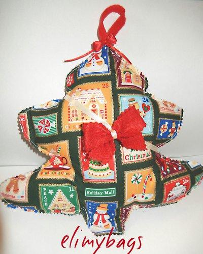 Albero di Natale di stoffa da appendere fatto a mano♥