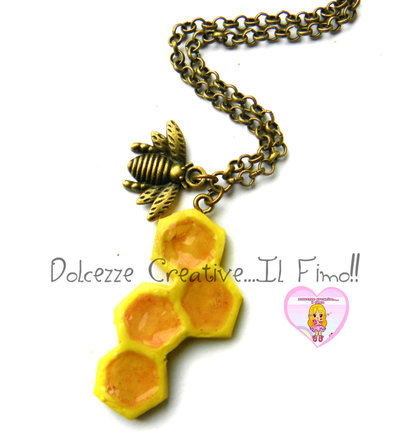 Collana Ape e Favo Da miele - kawaii - Idea regalo