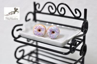CIAMBELLA -Orecchini ciambella in fimo con glassa- American collezione-Fimo gioielli cibo