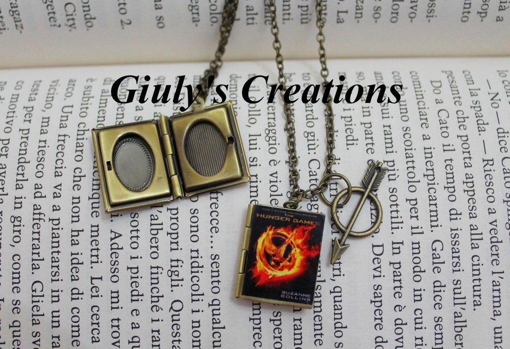 Famoso Collana con medaglione apribile porta foto - Libro di Hunger Games  OC33