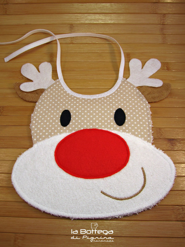 Bavaglino Renna di Babbo Natale