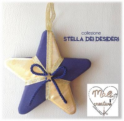 """Collezione """"Stella dei Desideri"""" Natale - Stella oro e blu"""