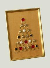 Albero di Natale oro e rosso