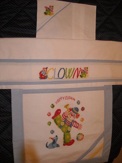 Set copertina, lenzuolino e federa cordinati per culla o carrozzina