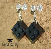 Orecchini LEGO originali pendenti neri