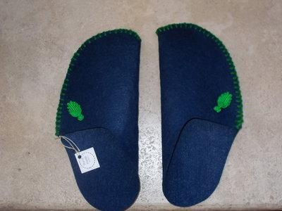 Pantofole One-piece blue in feltro